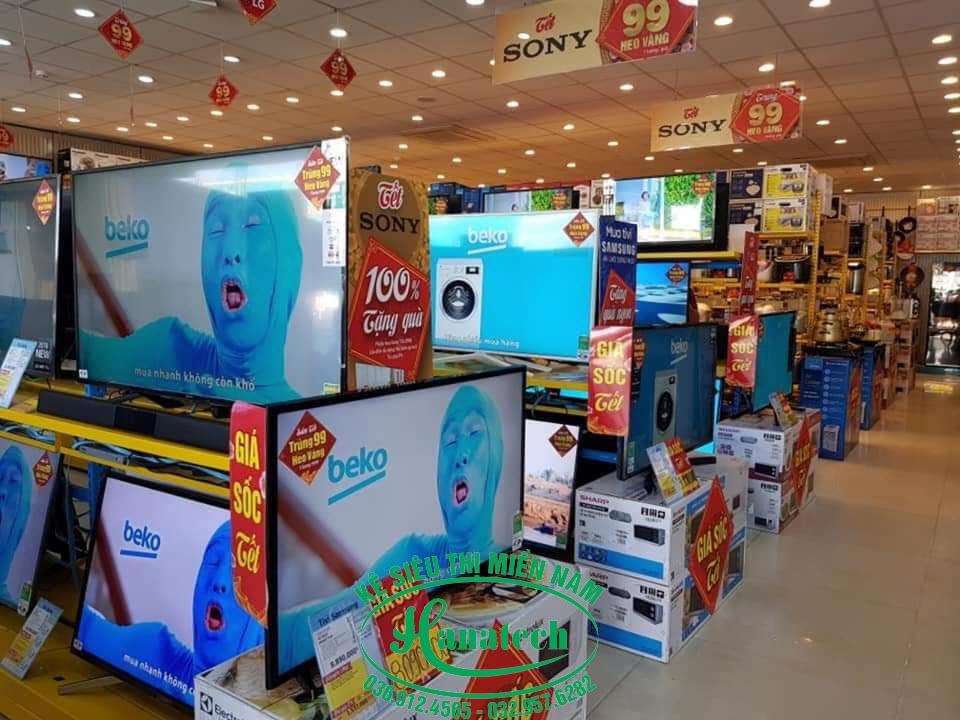 Kệ siêu thị điện máy tại Cần Thơ