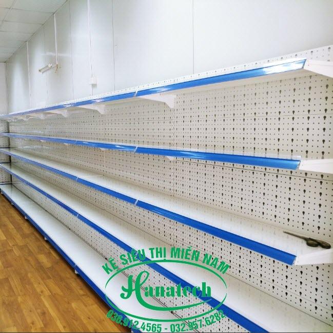 Kệ siêu thị đơn lưng đục lỗ tại TPHCM