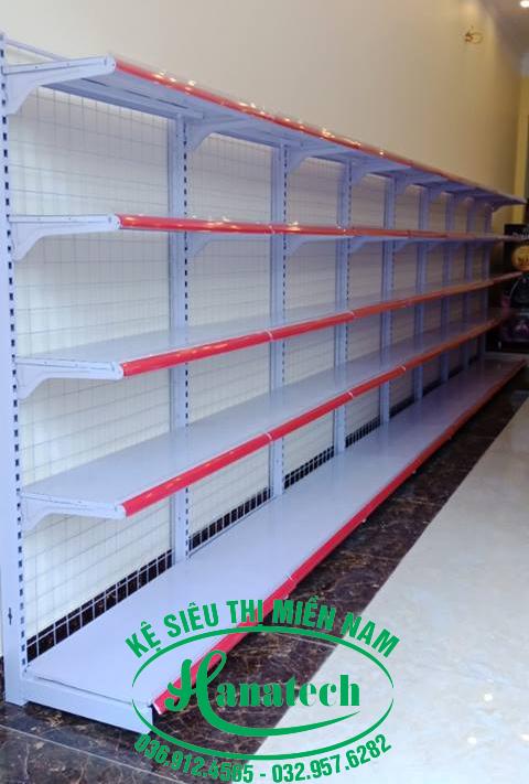 Kệ siêu thị tại TPHCM loại đơn lưng lưới
