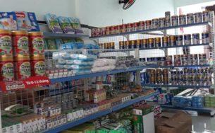 Giá kệ siêu thị bày hàng sữa tại Long An