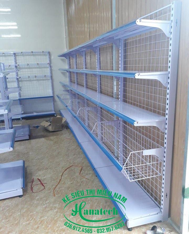 Kệ siêu thị tại Bà Rịa Vũng Tàu loại đơn lưng lưới