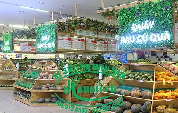 Kệ trưng bày rau củ quả tại Vũng Tàu