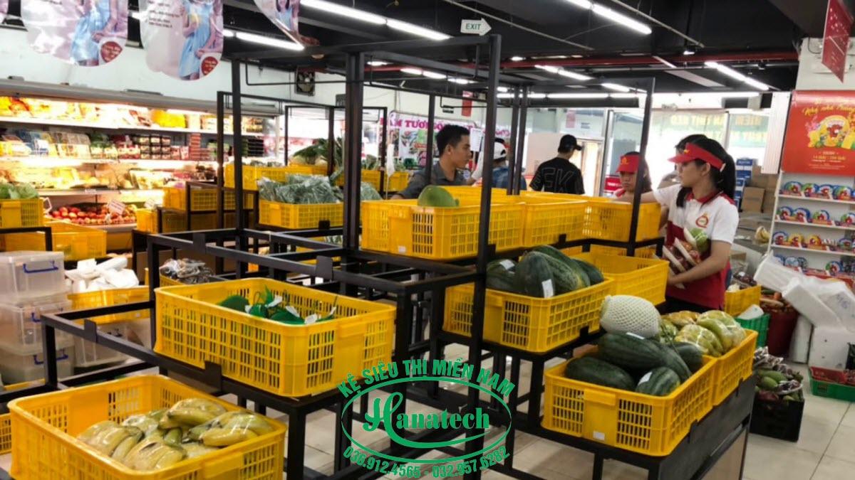 Kệ rau củ quả hoa quả tại Đồng Nai